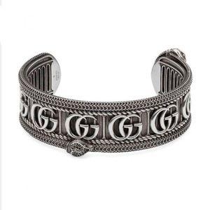 New Gucci GG Marmont Snake Cuff Bangle Bracelet